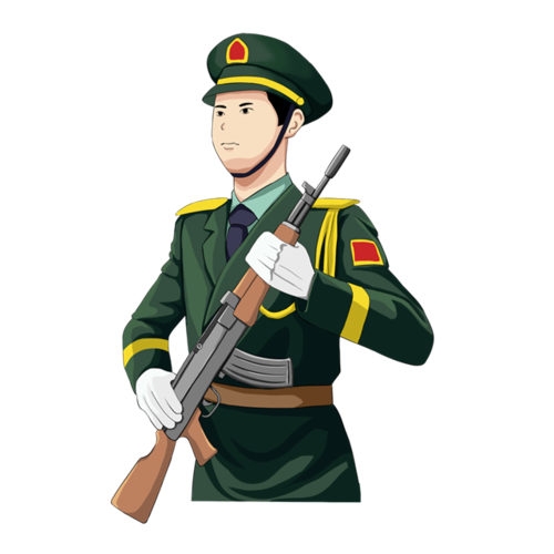 军人持枪插画