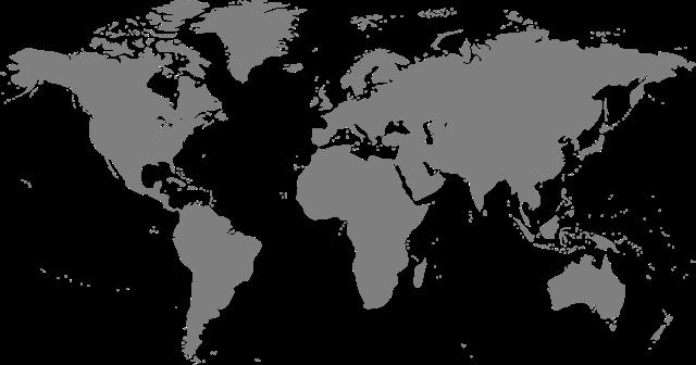 世界地图空白轮廓图