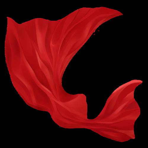 红丝绸飘扬