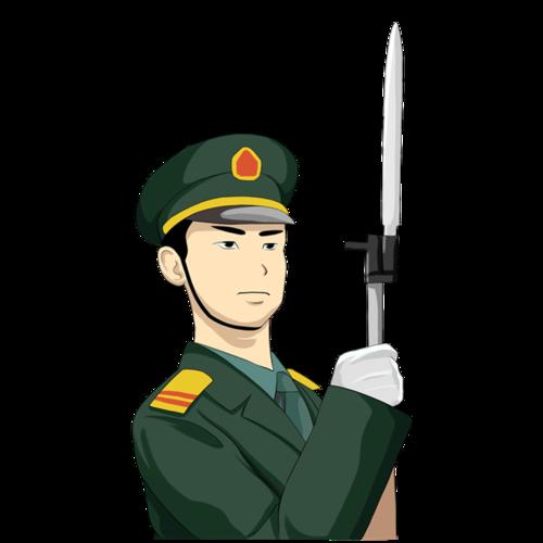 训练的军人