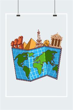 城市旅行地图