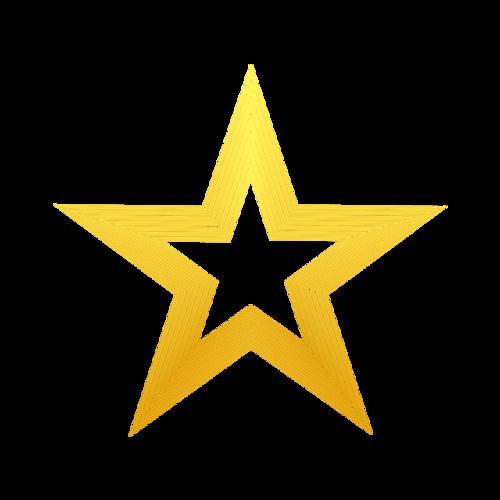 线描五角星