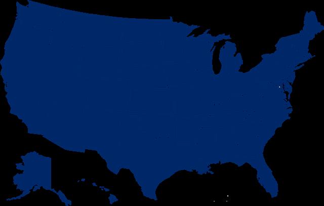 美国全景地图