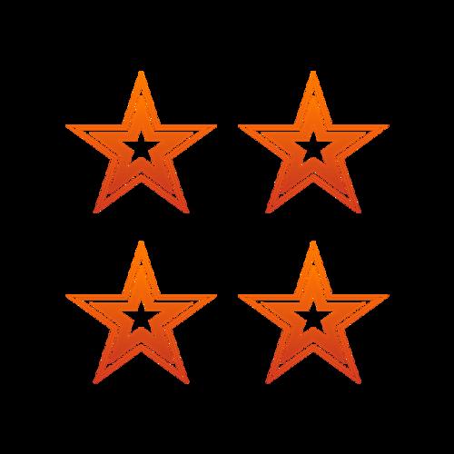 扁平化五角星