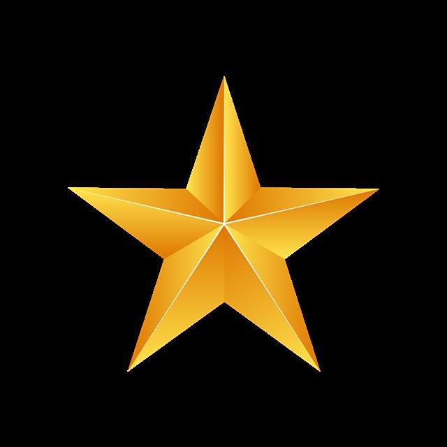 矢量金色五角星