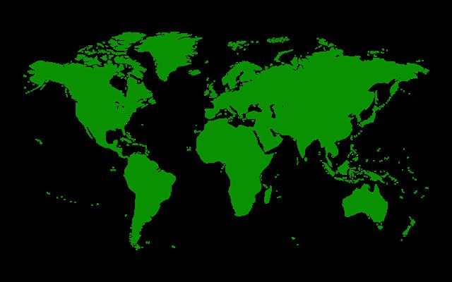 绿色世界地图矢量图