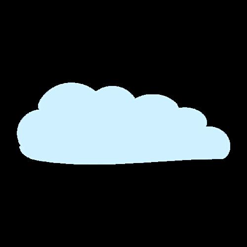 蓝色云朵儿童画