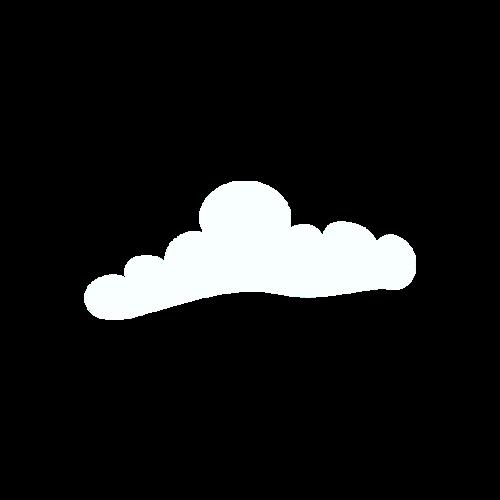白色云朵形状