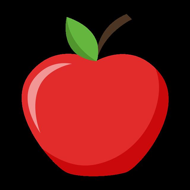 红苹果卡通手绘