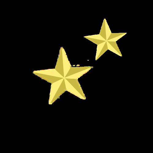 黄色立体五角星