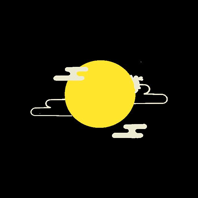 中秋月亮简笔画