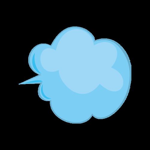 蓝色云形气泡框