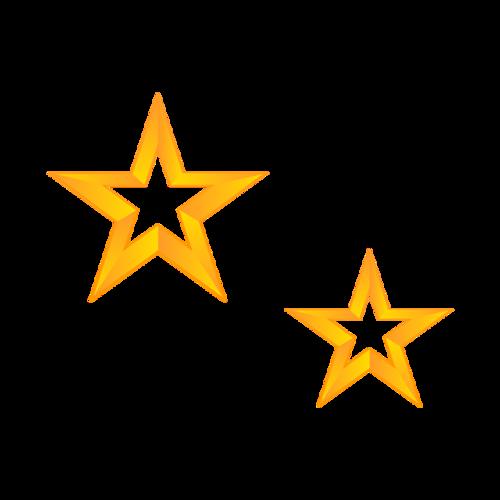 卡通五角星装饰图案