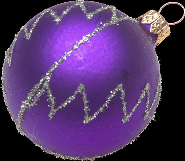 紫色圆球挂饰