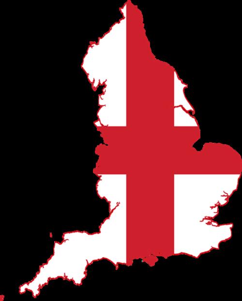 手绘英格兰地图