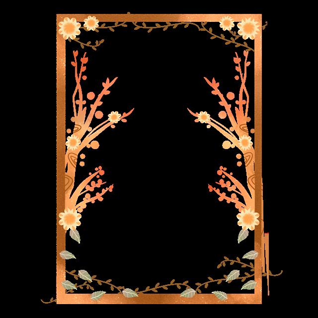 黄色树叶边框