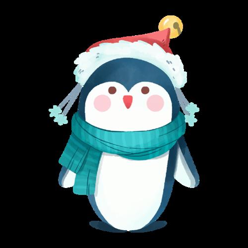 带圣诞帽的动物
