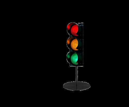 交通安全红路灯矢量图