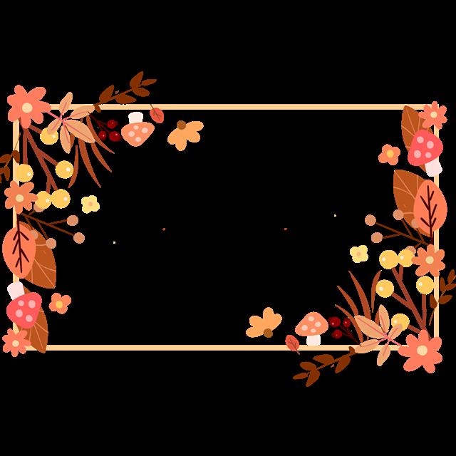 秋季落叶花朵边框