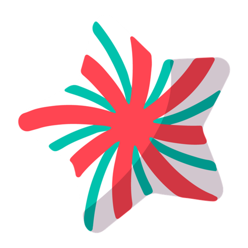 条纹五角星糖果图片