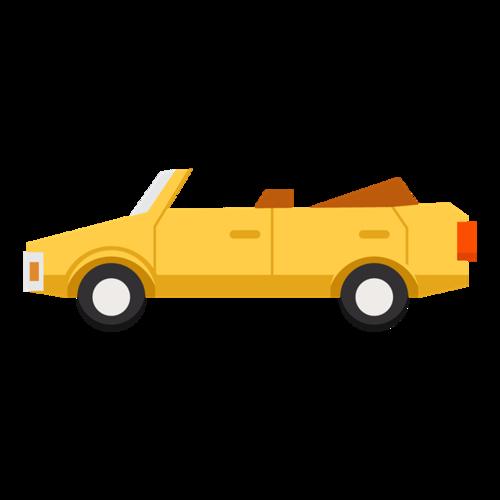 黄色跑车矢量图