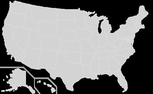 简洁美国地图图片