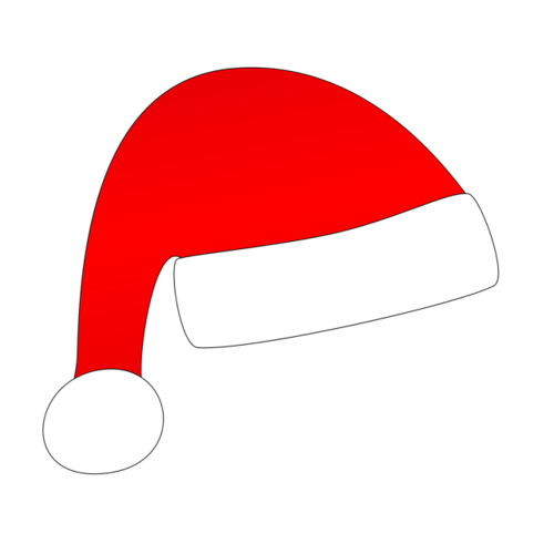 手绘圣诞帽图片
