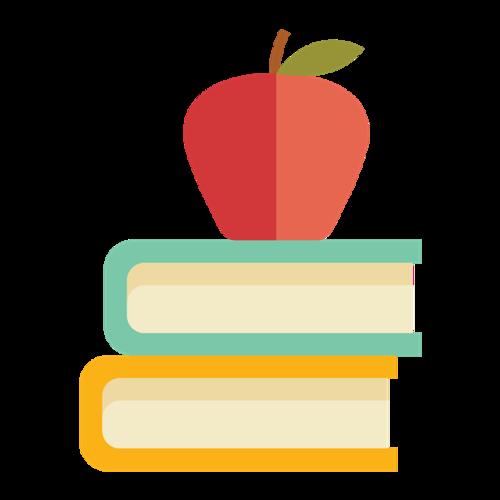 扁平化校园书本图片