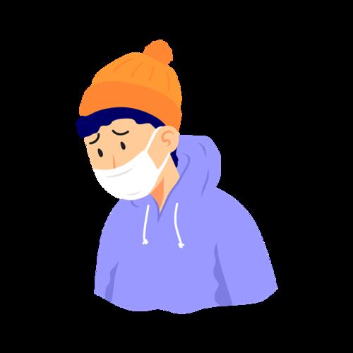 秋季防疫人物图片