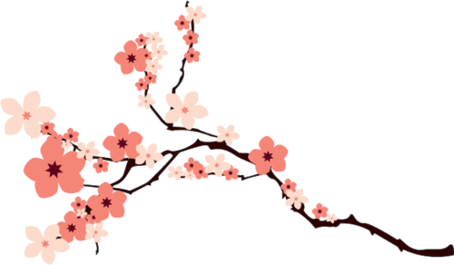 樱花装饰插画