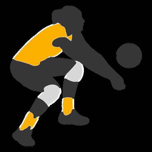 排球运动员人物剪影