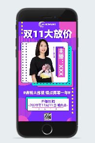 双11淘宝直播间宠粉宣传海报