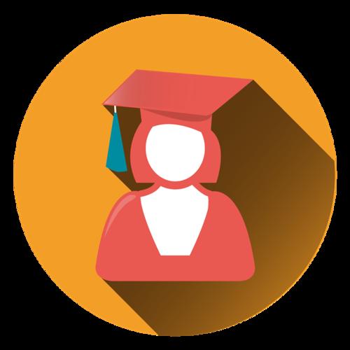 女学生图标logo