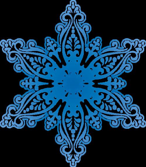 雪花纹样图案