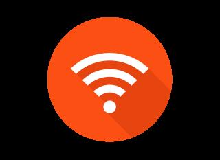 橙色WiFi标志