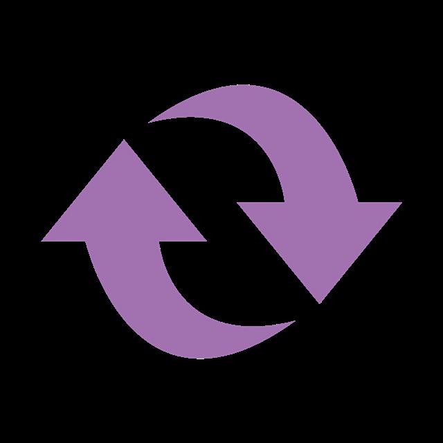 紫色刷新箭头