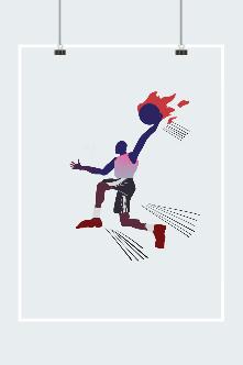 篮球运动员扣篮