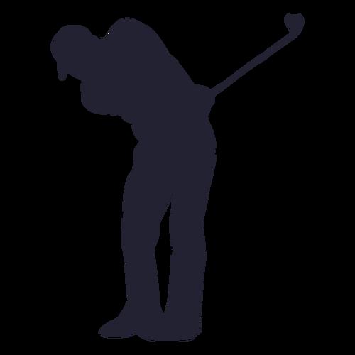 高尔夫球人物剪影