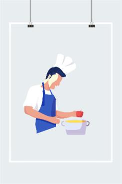 烹饪人物素材