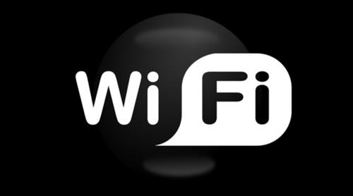 黑白WiFi标志