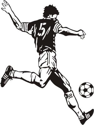 足球小子简笔画