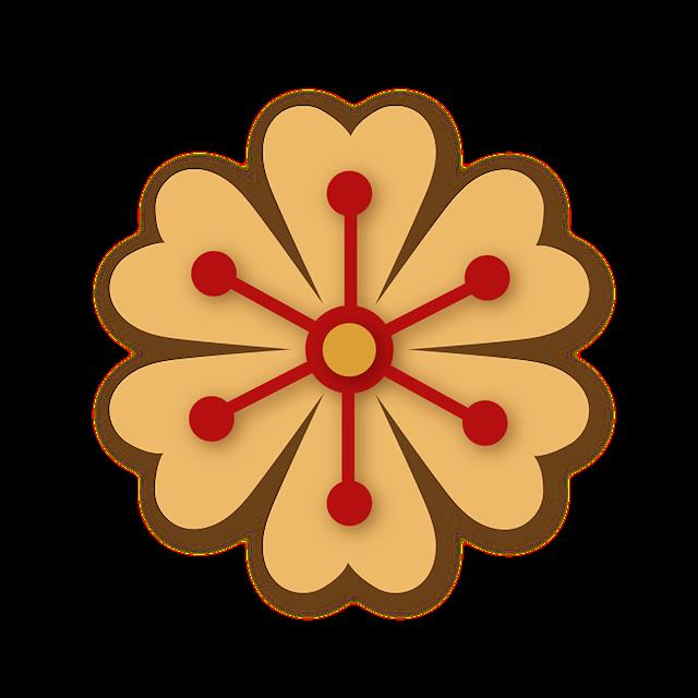 手绘双色花朵