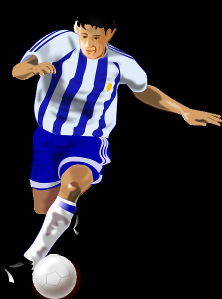 足球运动员人物插画