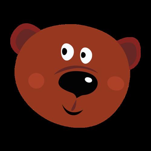 卡通熊头益智贴纸