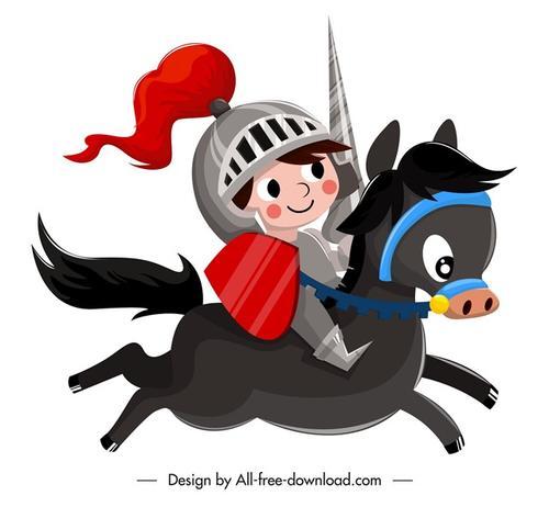 卡通骑士图片