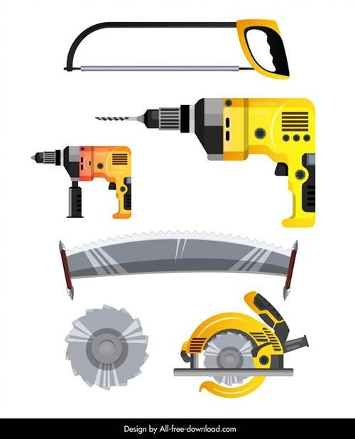 木工工具矢量图