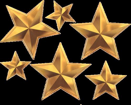 写实风金色五角星