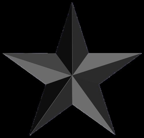 黑色立体星星
