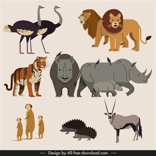 森林动物矢量图
