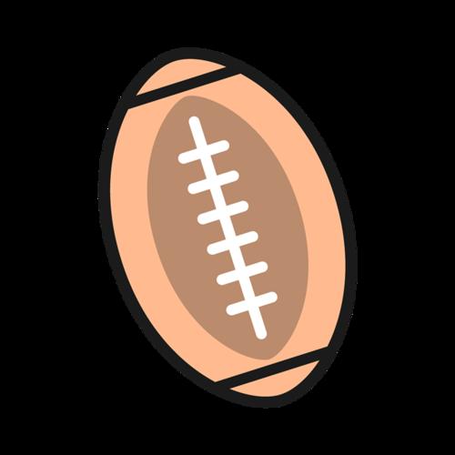 卡通橄榄球